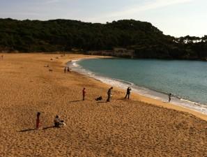 La playa de Castell, en Palamós, en plena Costa Brava.