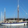 El Fleur de Passion es el velero suizo de mayor tamaño, un antiguo buque dragaminas de la armada alemana, construido en 1941 y transformado en velero en los años setenta (Foto Rosana Calvo)