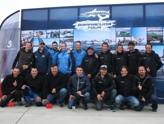 Parte de los equipos españoles Nautivela,Hermanos Guasch y Marina Center (Foto Jordi Gómez)