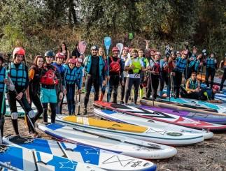 Por segundo año consecutivo, esta prueba se consolida como una cita imprescindible en la agenda de los profesionales del SUP en aguas bravas (Foto alua.es)