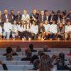 Foto de familia de los premiados en la Gala